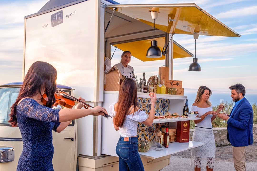 Private party aperitif food truck in Amalfi Coast