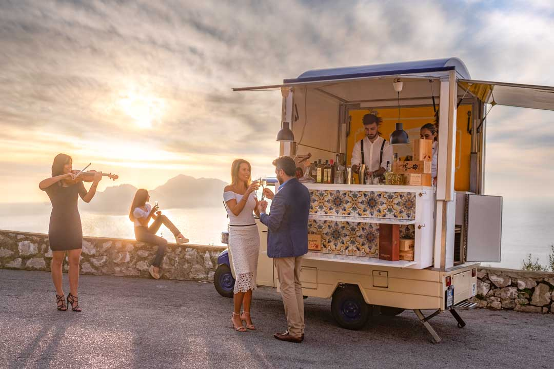 Wedding food truck in Amalfi Coast