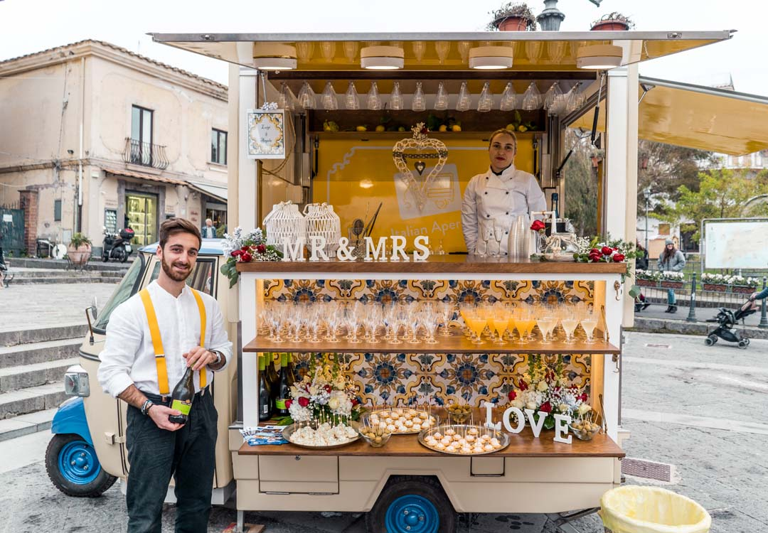 Food truck for weddings in Massalubrense