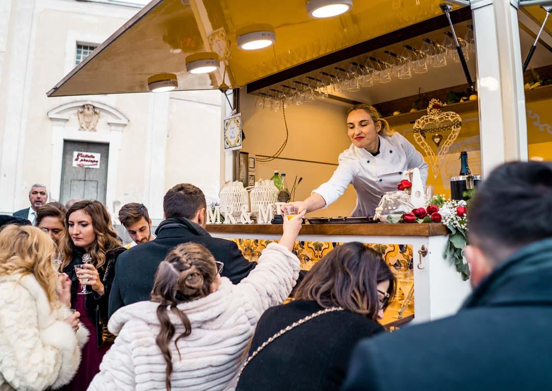 Wedding food truck in Sorrento